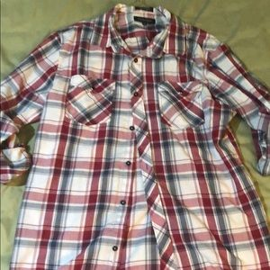 RED FLANNEL LONG SLEEVE BUTTON DOWN